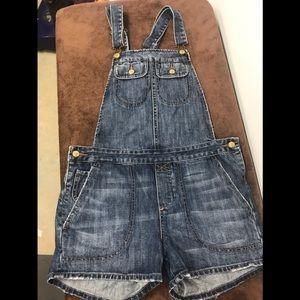 Paper denim & cloth sz 2 denim short overalls